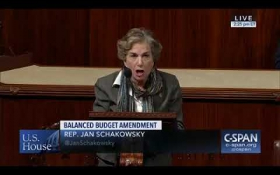 "Schakowsky opposes so-called ""Balanced Budget Amendment"""