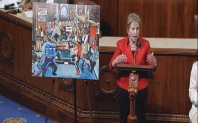 Rep Schakowsky addresses the Artistic Discovery Competition Controversy