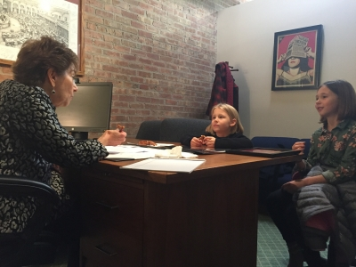 Meeting with two young constituents in my Chicago office